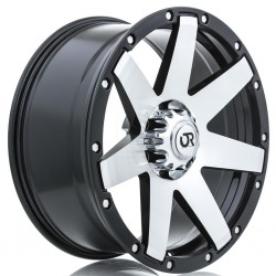"18"" RTX Wheel Set Raider Dodge Ram 1500 18x8.5 5x139.7 0mm Black Machined"