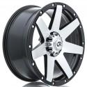 "18"" RTX Wheel Set Raider Dodge Ram 1500 18x8.5 5x139.7 0mm Black Machined"