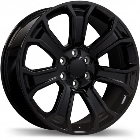 "20"" Replika Wheel Set Silverado Sierra Ram 6x139.7 20x9 +24mm Gloss Black"