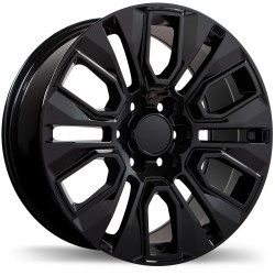 "20"" Replika Wheel Set Silverado Sierra Tahoe Yukon 20x9 +24mm Gloss Black"