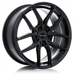"18"" RTX Wheel Set Audi Mercedes Volkswagen Gloss Black 18x8  +42"