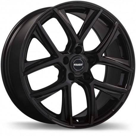 "18""  Fast Tactic Wheel Set Volkswagen Audi Gloss Black 5x112 +42mm"