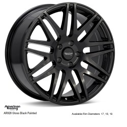 "18"" Wheel Set AR928 Audi Volkswagen Mercedes 5x112 +40 Gloss Black"