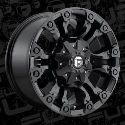 """20"""" Fuel Wheel Set Vapor D560 20x9 +18 Matte Black"""