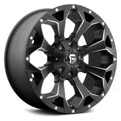 "18"" Fuel Wheel Set D546 Assault 18x9 +1mm Matte Black Milled"