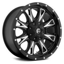 "18"" Fuel Wheel Set D513 Throttle 18x9 +20mm 6x135 6x139.7 Matte Black Milled"