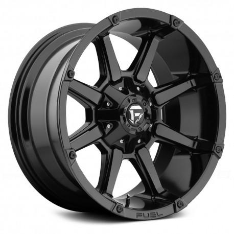 "20"" Fuel Wheel Set Silverado Sierra F150 Ram 6x135/6x139.7 20x9 +20mm Gloss Black"