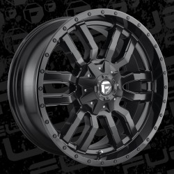 "20"" Fuel Wheel Set Silverado Sierra F150 Ram 6x135/6x139.7 20x9 +19mm D596 Sledge Black"