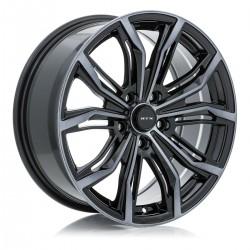 "20"" RTX Wheel Set Black Widow Volvo Lincoln Jaguar 5x108 20x8.5 +38"
