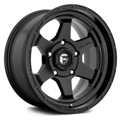 "17"" Fuel Wheel Set Jeep Wrangler JK JL Gladiator D664 Shok 17x9 -12 Matte Black"