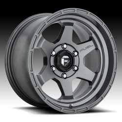 "17"" Fuel Wheel Set Jeep Wrangler JK JL Gladiator D665 Shok 17x9 -12 Matte Gun Metal"