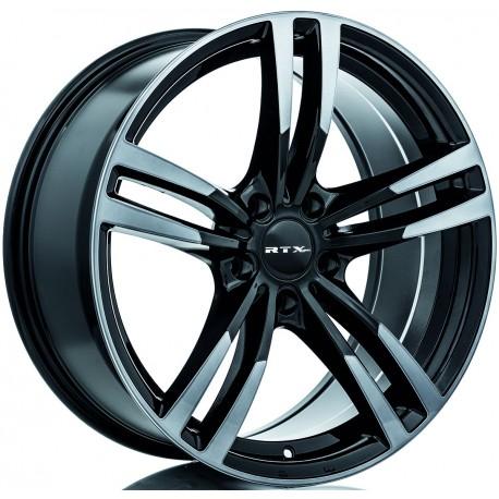 """19"""" RTX Wheel Set BMW Tesla Land Rover 5x120 19x8.5 Black Machined Grey"""