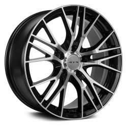 "20"" RTX Wheel Set Land Rover BMW Tesla 20x8.5 5x120 Black Machined"