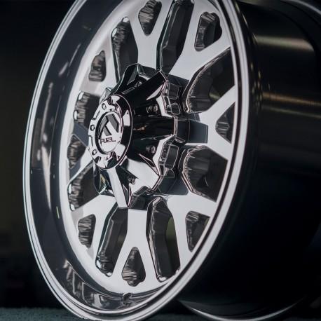 """20"""" Fuel Wheel Set Silverado Sierra 2500 Polished 8x180 20x9 +20mm"""