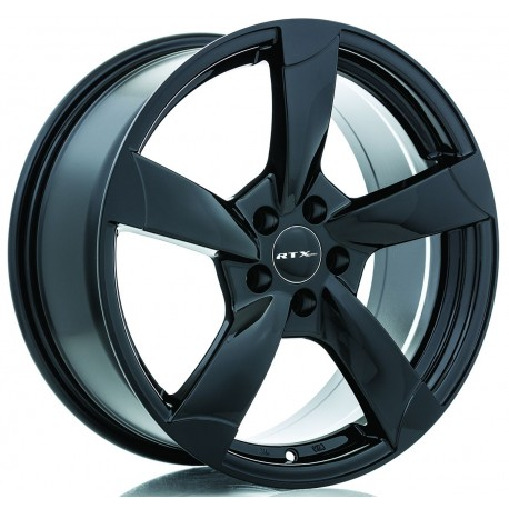 "16"" RTX RSII Wheel Set Volkswagen Audi 5x112 +45mm Gloss Black"