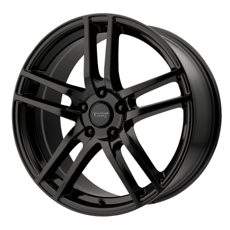 "18"" Wheel Set AR929 Winter Rim Audi VW Mercedes 5x112 18x8 +45mm Black"