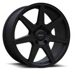 "20"" Envy Wheel Set Silverado Sierra Ram 6x139.7 20x8.5 +25mm Matte Black"