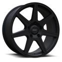 """20"""" Envy Wheel Set Silverado Sierra Ram 6x139.7 20x8.5 +25mm Matte Black"""