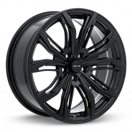 "17"" RTX Wheel Set Ford Volvo Land Rover 17x7.5 5x108 +40 Satin Black"