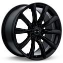 "18"" RTX Wheel Set Acura Honda Tesla 18x8.5 5xx14.3 +35mm Gloss Black"