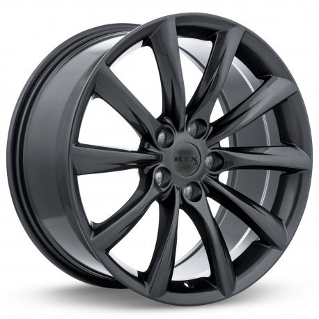 "20"" RTX Wheel Set Tesla Honda Acura 20x8.5 +35 5x120 Gunmetal"