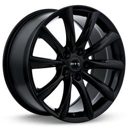 "20"" RTX Wheel Set Tesla Honda Acura 20x8.5 +35 5x120 Gloss Black"