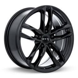 "17"" RTX OE Wheel Set Audi BMW Mercedes Volkswagen 17x7.5 5x112 +35 Gloss Black"