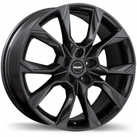 """17"""" Fast Wheel Set Lexus Nissan Toyota Subaru Infiniti 17x7 +35mm 5x114.3 Gloss Gunmetal"""