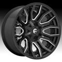 """20"""" Fuel Wheel Set D711 Rage Ford F250 F350 8x170 20x10 -18mm"""