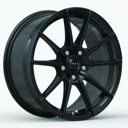 """17"""" RTX Wheel Set SL01 Honda Toyota Kia Hyundai Nissan Subaru 17x7.5 +40 5x114.3 Gloss Black"""