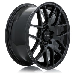 "19"" RTX Envy Wheel Set Tesla Acura Honda BMW Land Rover 19x8.5 5x120 +38 Gloss Black"