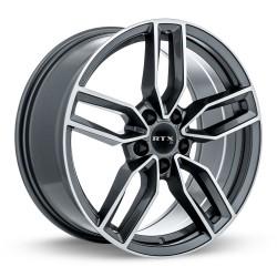 "19"" RTX Wheel Set Volkswagen Mercedes QX30 BMW Audi 19x8 5x112 +35 Satin Black"