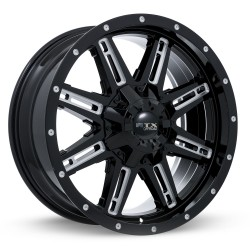 "18"" RTX Ravine Wheel Set Ford F250 F350 18x9 +15mm 8x170 Gloss Black Milled"