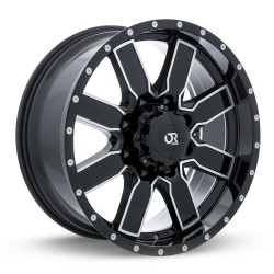 "20"" RTX Steppe Wheel Set Ford F250 F350 20x9 +15mm 8x170 Gloss Black Machined"