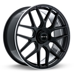 "20"" RTX Leonburg Wheel Set Mercedes Audi Volkswagen BMW 20x8.5 +38 5x112 Gloss Black"