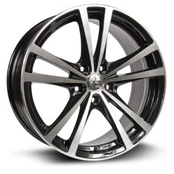 RTX Force 16X7 5X114.3  Black Machined