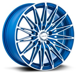 "17"" RTX Crystal 17X7.5 5X114.3 Wheel Set Matte Blue Machined"