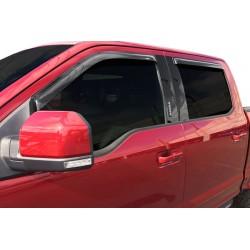 Auto Ventshade Rainguard Ford F-150 15-17 Tape-On Smoke Set of 4