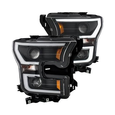 Anzo Headlight Assembly Projector Ford F-150 15-17 Beam Switchback Style