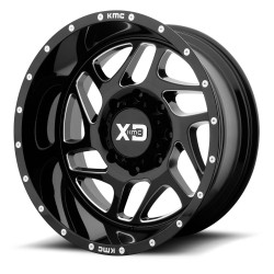 "XD Series 20"" Ford F250 F350 20x9 8x170 +18mm Black Milled Set"